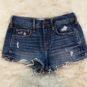HOLLISTER Cut Off Destroyed Denim Shorts 1 or 25